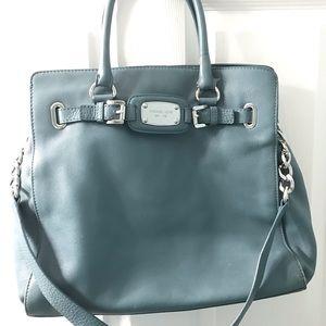 Michael Kors slate blue large satchel handbag